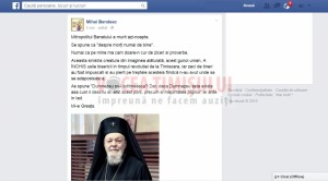 Mihai Bendeac mesaj Mitropolitul Banatului