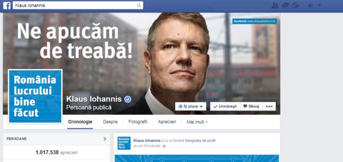 Pagina-Facebook-Klaus-Iohannis