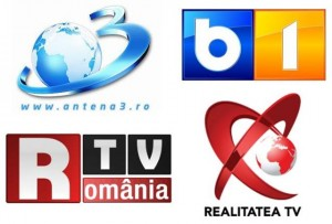 televiziuni Antena 3, B1 Tv, Romania Tv, Realitatea Tv