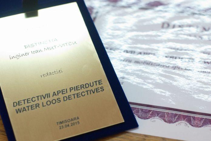 """""""Detectivii"""" de la Aquatim, premiați de Asociația Inginerilor de Instalații din România, Vocea Timisului"""