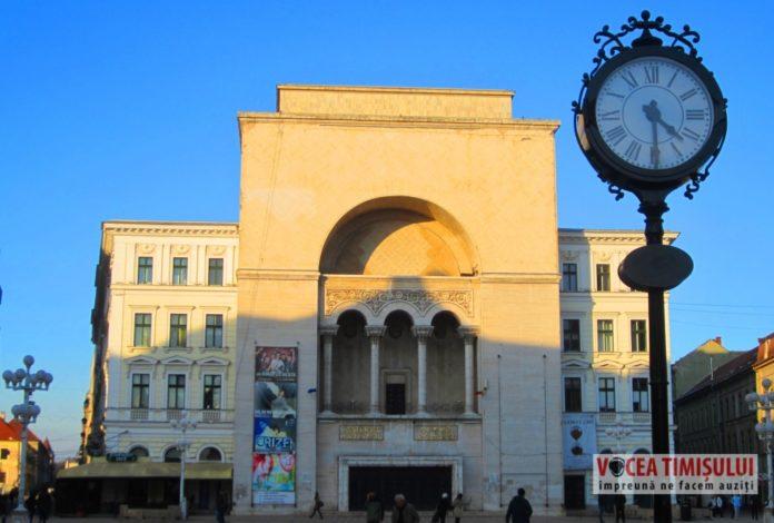 Ceasul-Piata-Victoriei-cu-Opera-Romana-si-Teatrul-National-Timisoara