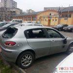 Autoturism-vandalizat-in-Piata-Dacia-din-Timisoara2