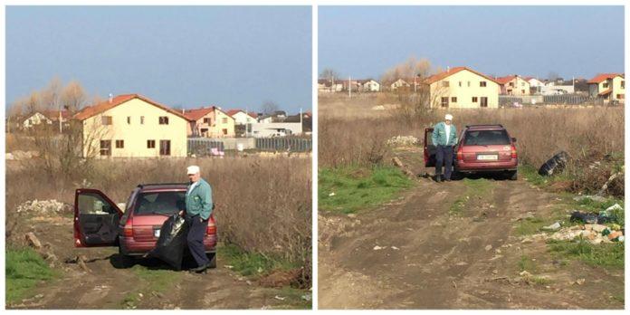 Brabat-surprins-in-timp-ce-arunca-saci-cu-gunoi