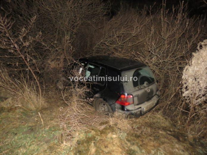 S-a urcat beat la volan, a ratat o curbă la stânga şi a ajuns cu maşina în şanţ. Motivul pentru care a consumat alcool, Vocea Timisului