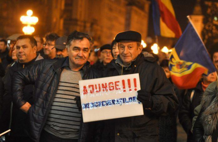 Protestatarii din Timişoara