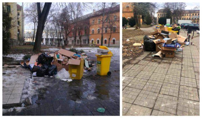 Firma din centrul Timisoarei, Firma din centrul Timisoarei, AMENDATA a doua oara intr-o luna, pentru gunoaie aruncate in strada