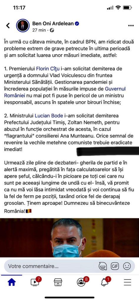 Vrednic este! Deputatul liberal Ben Oni Ardelean continua lupta cu USR și nu se lasă intimidat nici măcar de gramatica limbii române 1