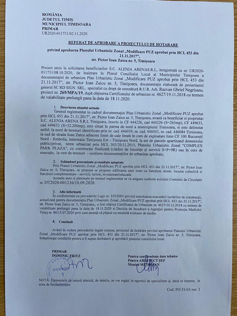 Să vină ANI! Primarul-debitor Dominic Fritz a semnat în beneficiul consilierului-creditor Răzvan Negrișanu 1