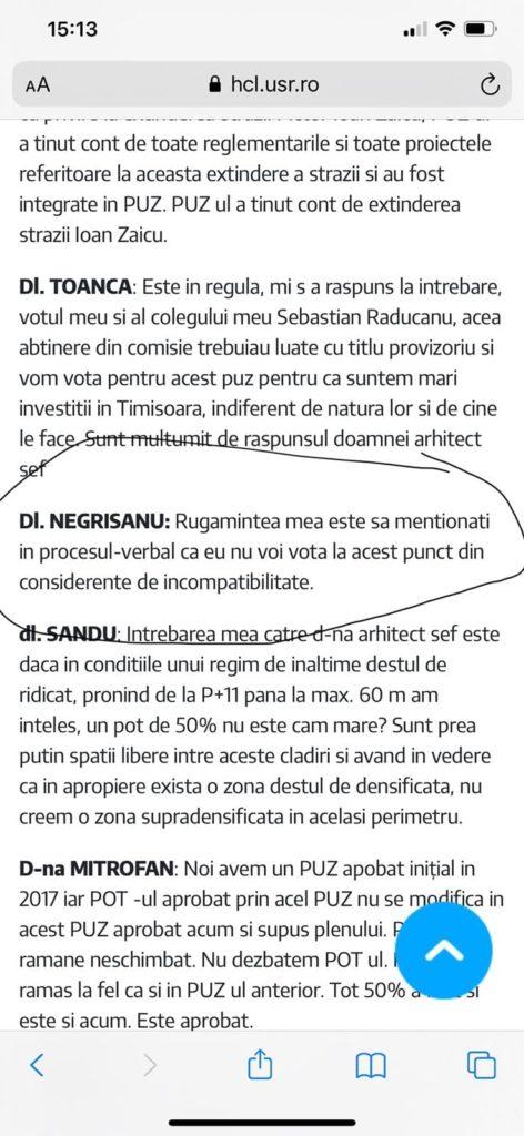 Să vină ANI! Primarul-debitor Dominic Fritz a semnat în beneficiul consilierului-creditor Răzvan Negrișanu 5
